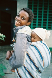 A young African mother
