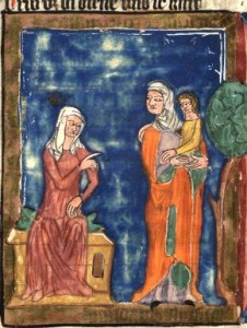 From World Chronicle by Rudolf von Ems. Created in Bohemia, 3rd quarter of the 14th century. Via Wikimedia Commons